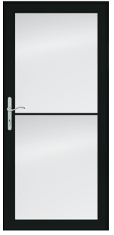 "STORM DOOR left WHITE 36"" X 80"""